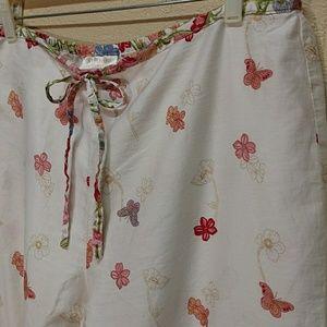 2/$12-Valerie Stevens/Studio cotton lounge pants